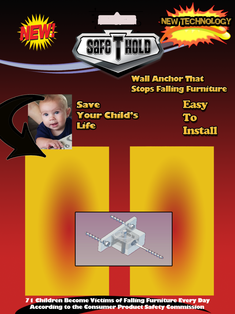 New Box Products Presents Wall Anchor that to Save Your Childs Life
